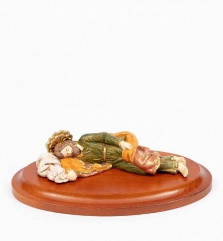 Śpiący Święty Józef (646) wys. 17 cm z drewnianą podstawą