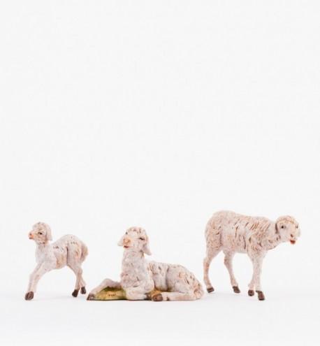 Rodzina owieczek do szopki wys. 12 cm