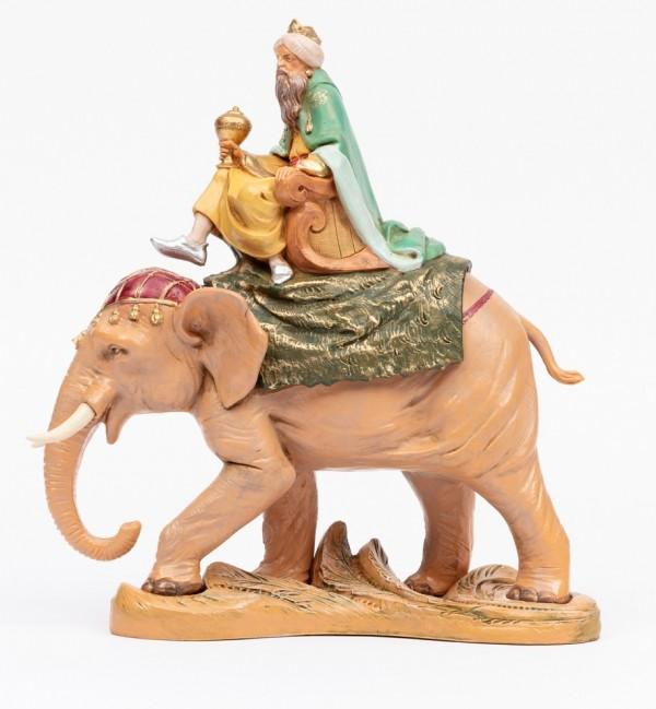 Król na słoniu do szopki wys. 19 cm